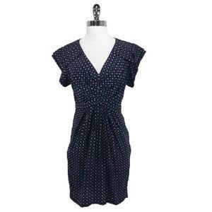 3.1 Phillip Lim Size 6 Navy Star Print Silk Dress